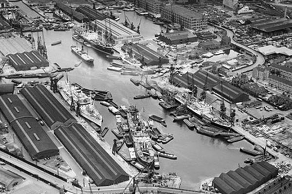 Greenland Dock June 1958